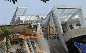 Proyek Canopy Kaca Tempered Clear
