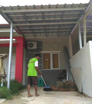 baja ringan teras rumah pemasangan kanopi murah atap spandek di ciledug