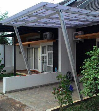 biaya membuat garasi mobil dengan baja ringan harga kanopi murah minimalis