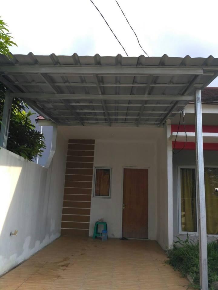 contoh kanopi baja ringan atap spandek minimalis termurah