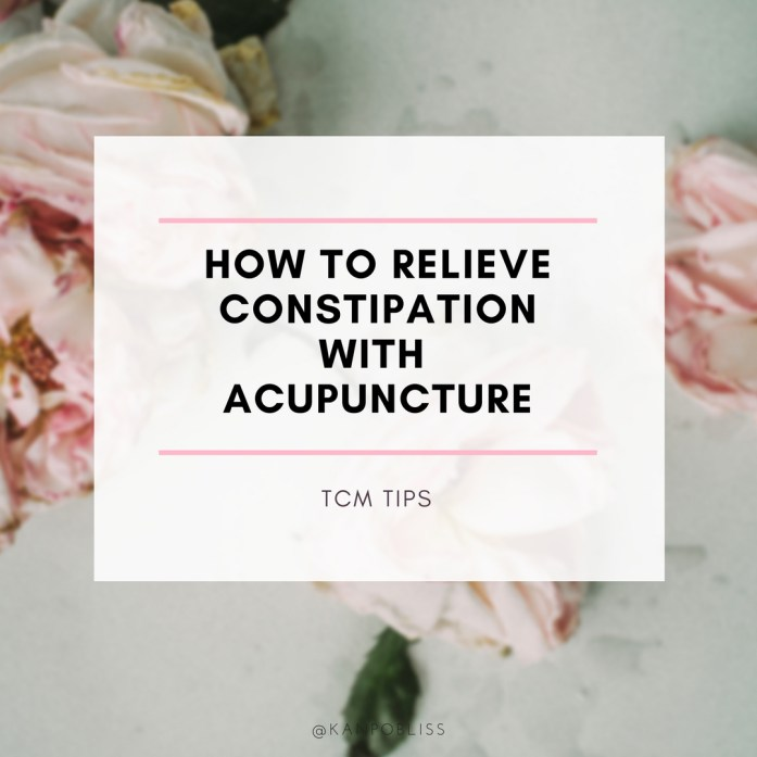 tcm, constipation. acupuncture