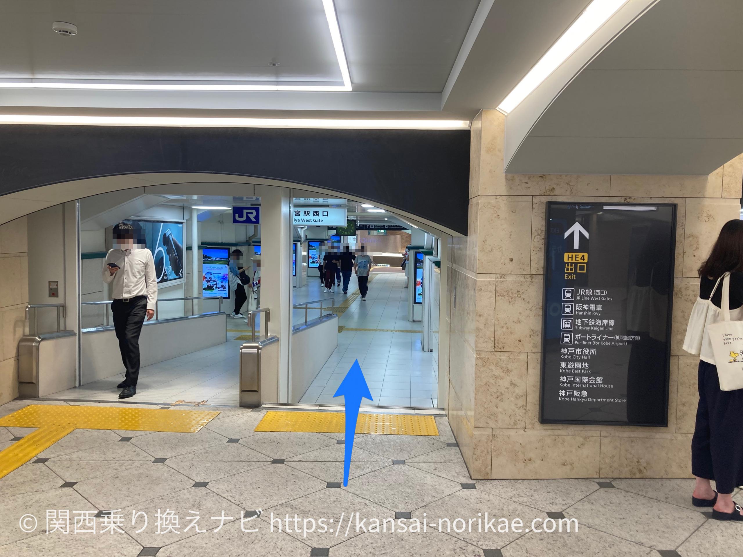 阪急三宮からJR三ノ宮2