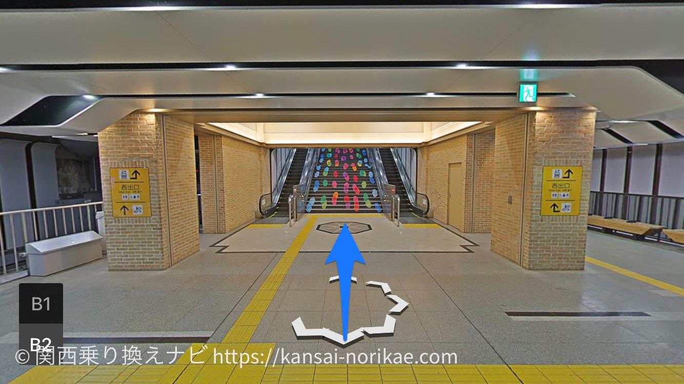 阪神三宮から花時計前1