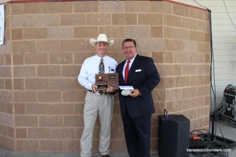 Lance Fullerton with 2015 Kansas Auctioneer Champion, Lenny Mullin.