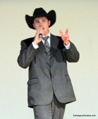 Jase Hubert competing in the 2016 Kansas Auctioneer Preliminaries.