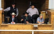 J.W. Leard competing in the 2017 Kansas Livestock Auctioneer contest