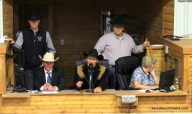 Carey Macy competing in the 2017 Kansas Livestock Auctioneer contest