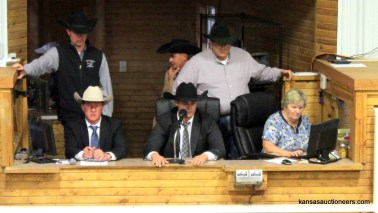 Jase Hubert competing in the 2017 Kansas Livestock Auctioneer contest