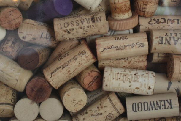 Annual Independence Uncorked Wine Festival - pile of wine corks