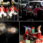 Holiday Fireworks and Santa at Christmas in the Sky