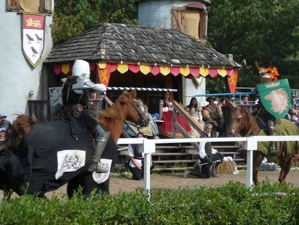 Kansas City Renaissance Festival - two people jousting on horses