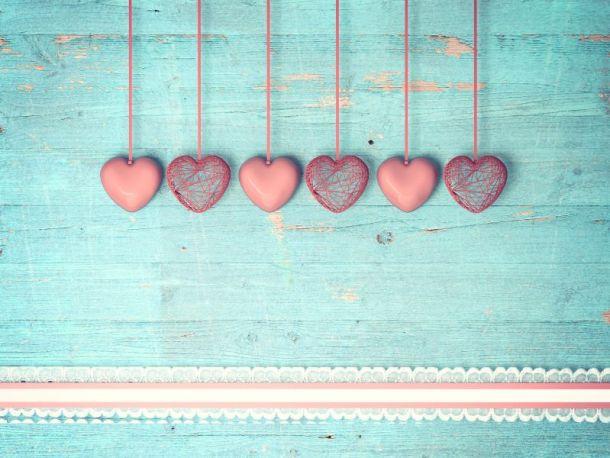 Kansas City Valentine's Date Ideas - hearts on wooden background
