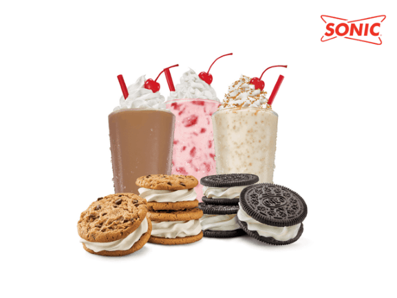 sonic ice cream sandwiches and shakes