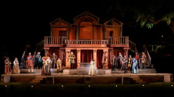 Heart of America Shakespeare in the park stage