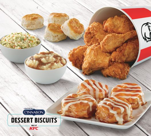 KFC and Cinnabon dessert biscuits