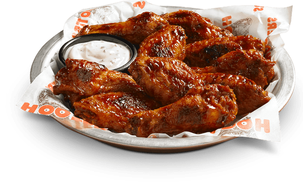 Plate of Hooter's chicken wings