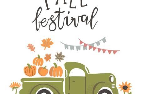 Fall Festival truck with pumpkins