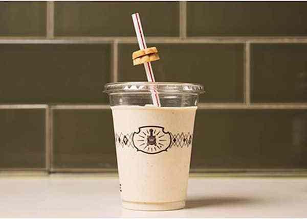 Potbelly Sandwich shop - shake with a straw