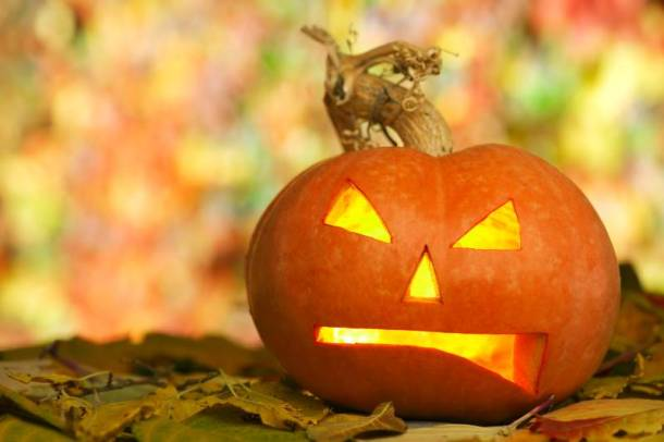 Kansas City Halloween - frowning jack-o-lantern