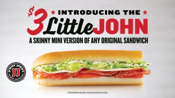 Kansas City food deals - Jimmy John's Little John sandwich