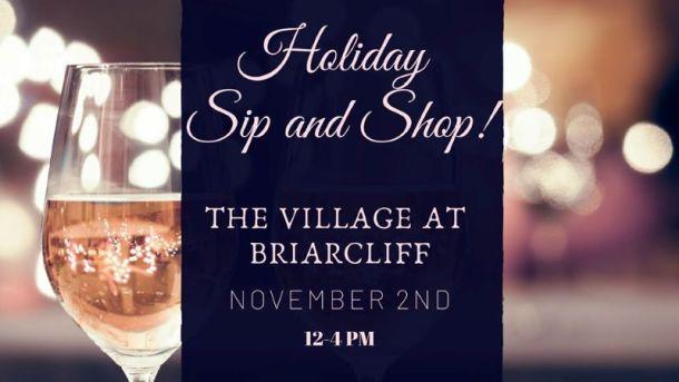 Kansas City Holiday Markets, Bazaars and Craft Fairs - Briarcliff Sip and Shop banner