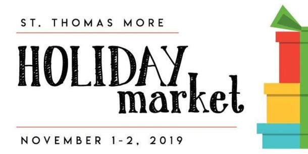 St. Thomas More school holiday market - market banner