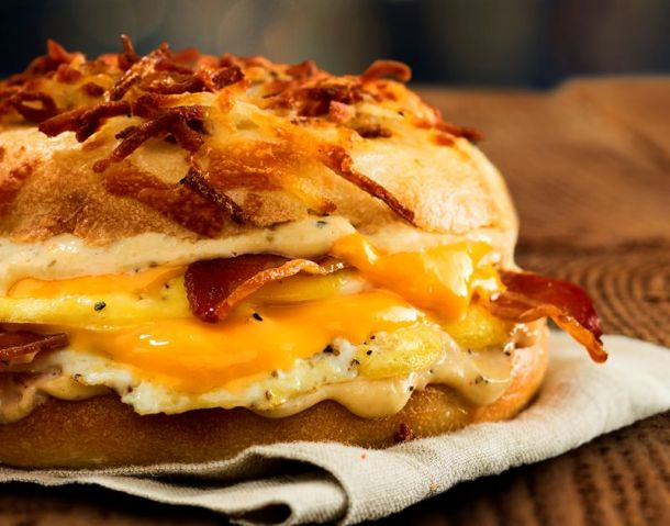 Kansas City restaurant deals - Einstein Bros. All-Nighter egg sandwich