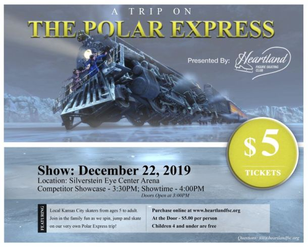 Kansas City Holiday events - Polar Express on Ice poster