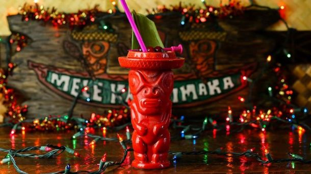 Kansas City Christmas pop-up bars - red tiki drink cup