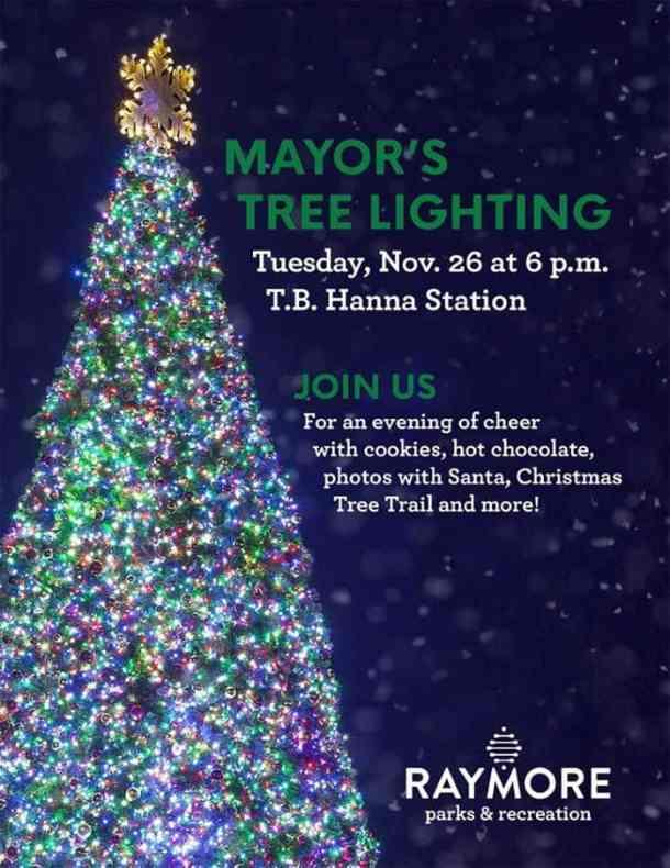 Kansas City Holiday Lights - Raymore Tree Lighting invitation