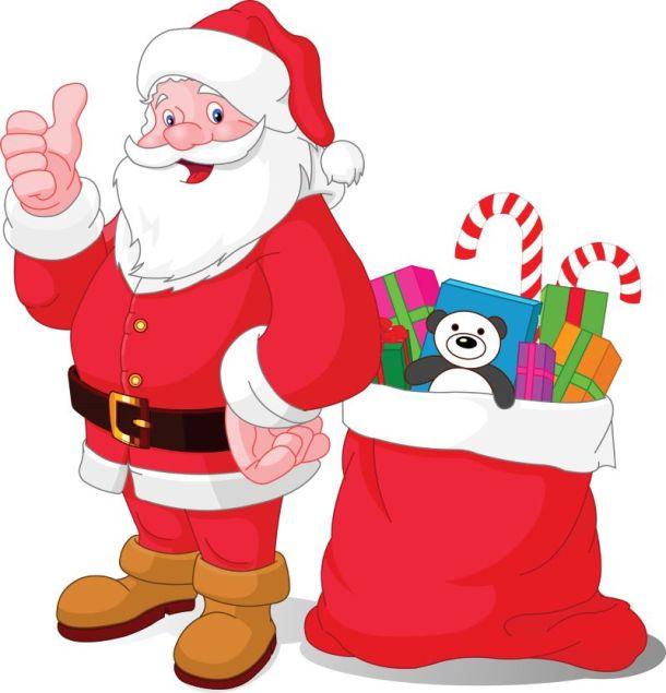 Photos with Santa in Kansas City - Santa with a red bag of presents