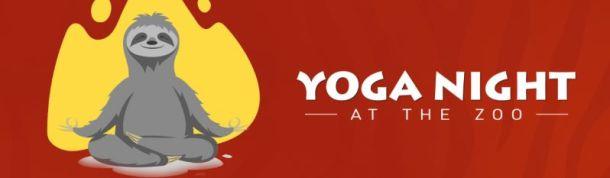 Yoga Night at the Kansas City Zoo - sloth stretching