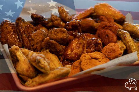 Kansas City Super Bowl Food Deals - plate of chicken wings