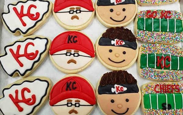Kansas City Super Bowl Food Deals - KC Chiefs sugar cookies