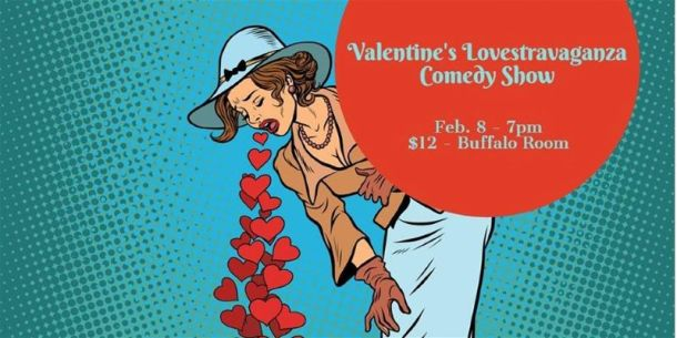 Comedy show in Kansas City - woman coughing up hearts