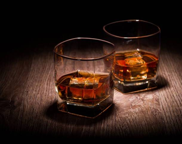 Kansas City Irish Fest - two whiskey glasses