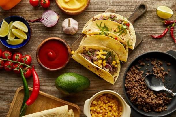 Kansas City Taco Trail - tacos on a table