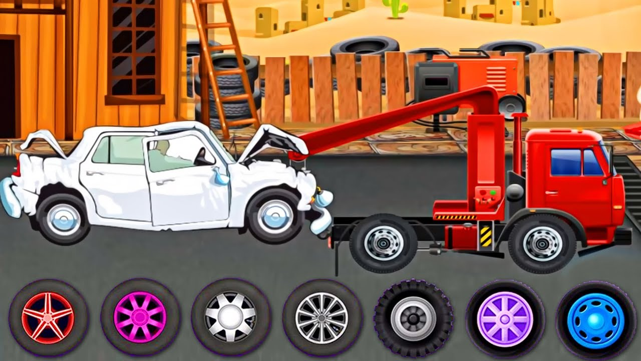 Cars & Truck - Truck Repair, Tow Truck for Kids | Mechanic Shop - Evacuator Cartoon Videos for KIDS