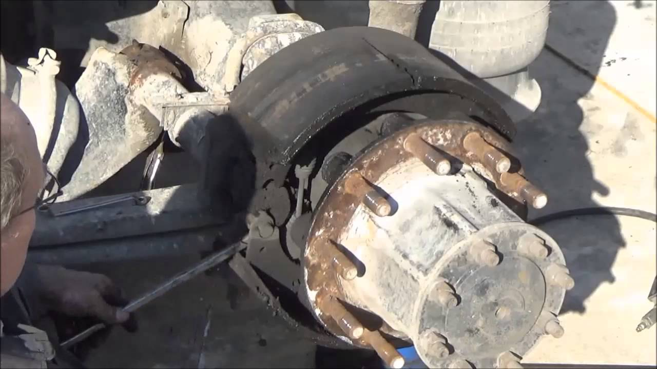 Changing brakes on a big truck