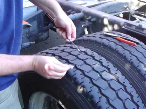 Semi Tire Repair Using the Nealy Tire System