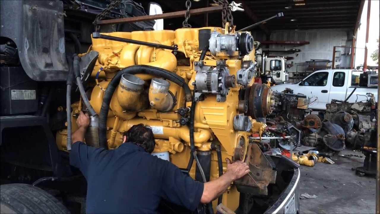 CAT C15 Engine Swap in a Peterbilt Truck