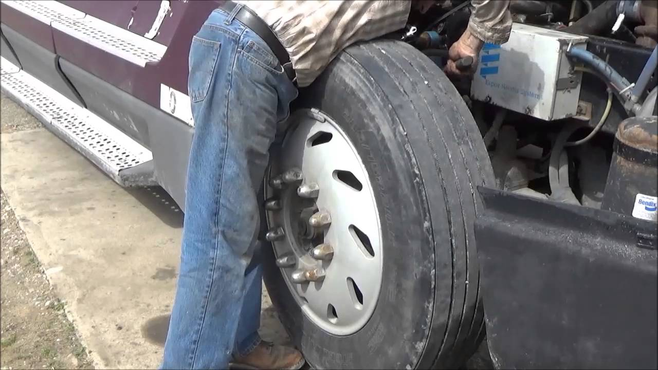 How to check and ballance big truck tire at home
