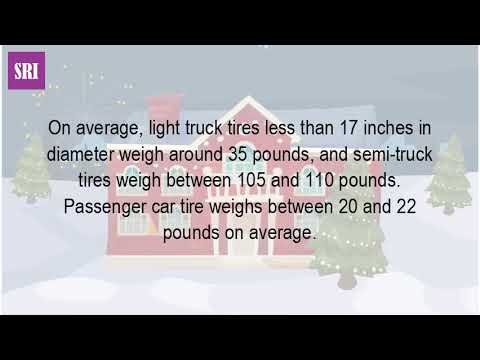 How Much Does A Semi Truck Tire Weight?
