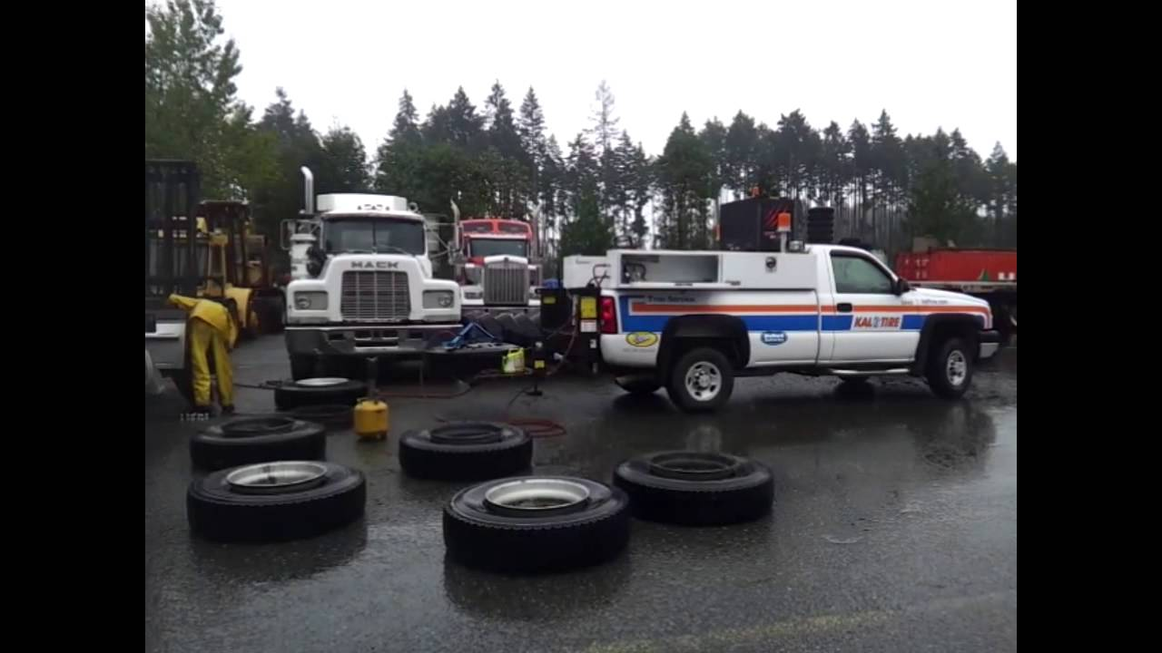 Kal Tire Employee uses the VMAC 60 CFM Diesel Driven Air Compressor System