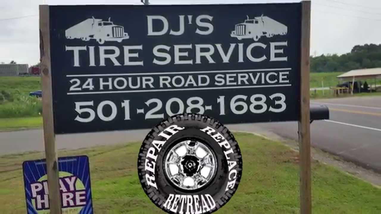 Roadside service semi-trucks tractor trailers DJ's tire service Clarksville