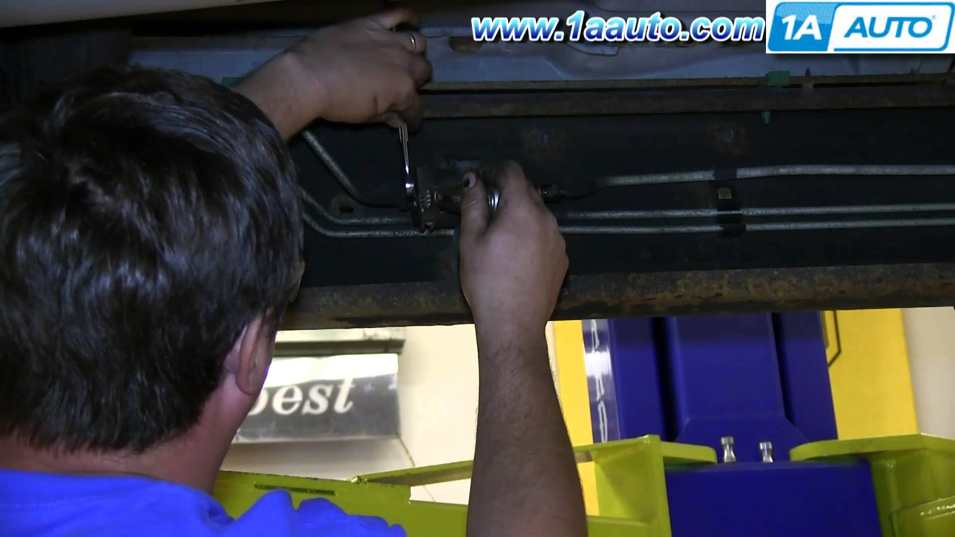 how to install replace fuel filter 1999 2006 gmc sierra chevy 2003 GMC Yukon Fuel Filter Location