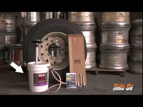 Ride-On Hand Pump Installation in Unmounted Commercial Truck Tires