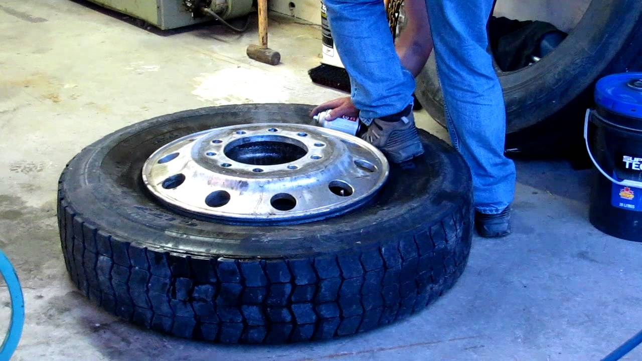 Tire set on bead with Starting Fluid