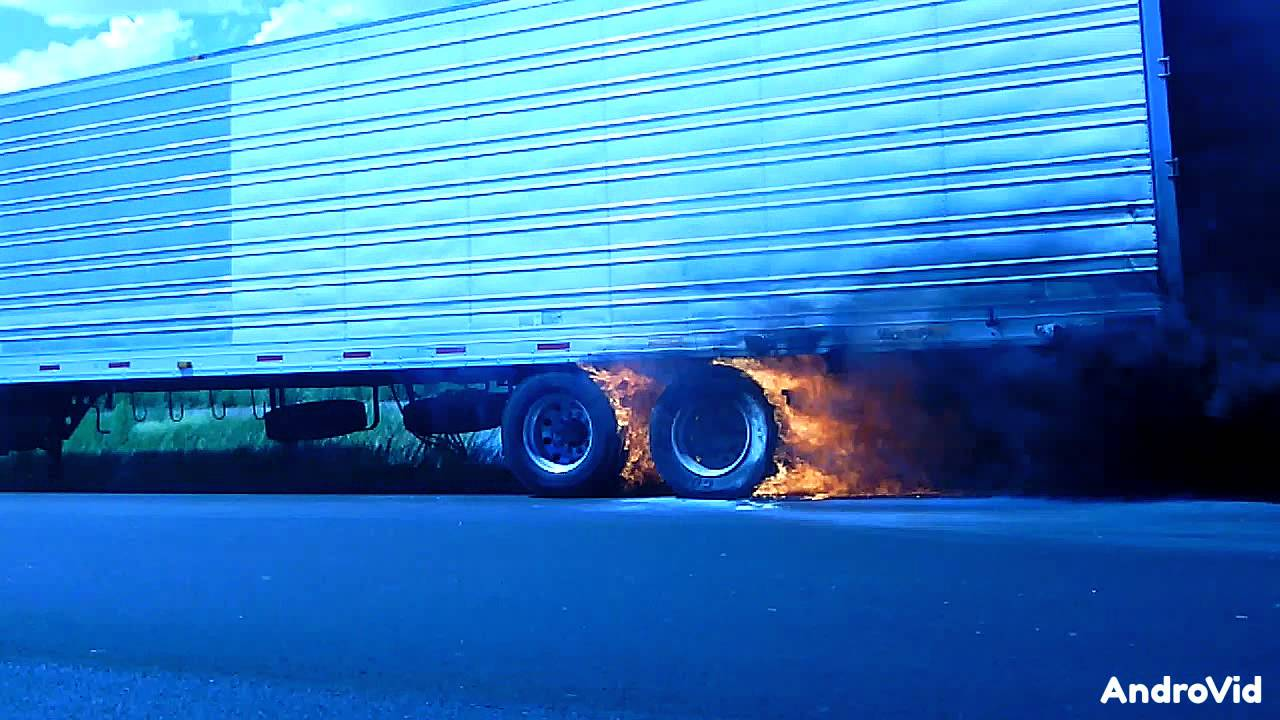 Semi Truck Tires Caught On Fire