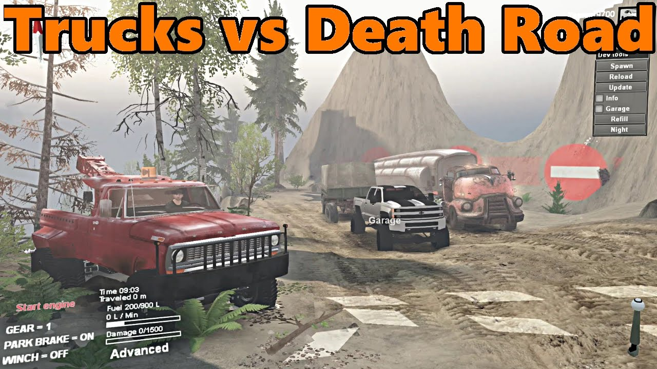 Spin Tires | Remember The DEATH ROAD? | Semi Truck and Duramax Towing Challenge